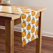 Pumpkin Table Runner | Zazzle.com