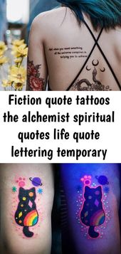 Fiction quote tattoos the alchemist spiritual quotes life quote lettering temporary tattoo sticke 12
