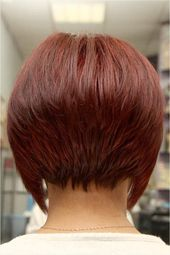 Short Layered Bob Hairstyles Front And Back View Haircut Short In Back Long In Front bob hairstyles for fine hair with fringe shoulder length