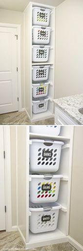 DIY Laundry Basket Organizer. …