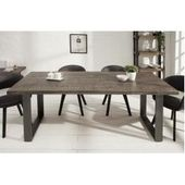 Design Dining Table Iron Craft 180cm Mango Wood Gray Iron Industrial Design Riess Am …