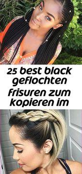 25 best black braided hairstyles to copy in 2018 2- # black # bridal hairstyle hairband # hairstyles #braided #year