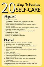 20 Möglichkeiten, sich selbst zu pflegen – #health