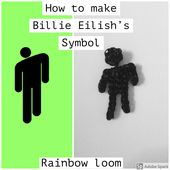 Billie Eilish Logo Rainbow Loom Billie Eilish Billie Rainbow Loom
