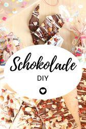 Homemade chocolate to give away