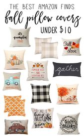 Best Fall Pillow Covers on Amazon! Under $10! Super affordable budget friendly f…  – Fall / Autumn