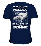 PAPA - SÖHNE - MEINEN HELDEN  -  V-Ausschnitt T-Shirt Unisex  #Shirts #TShirts