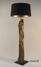 OOAK handmade floor lamp, kind wood stand, drum lampshade, different colors lampshade