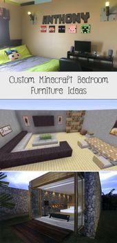 Custom Minecraft Bedroom Furniture Ideas #minecraftParty #minecraftMansion #mine… – minecraft
