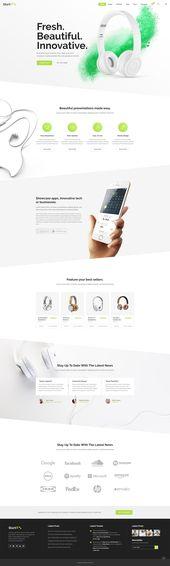 Startit–Product Landing Page II