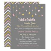 Baby Showers Twinkle Faux Gold and Pink Twinkle Little Star Baby Shower