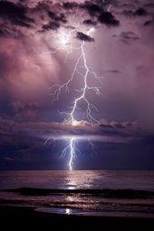 "earthyday: "" Towering Stike © Galen Burow "", thunderstorm, lightning, water…"