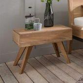 Massivholz Nachttisch in Bianco Wildeiche geölt (2er-Set) BasilicanaBasilic …   – Products