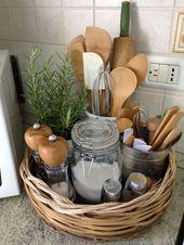 A simple natural fiber storage basket for utensils …