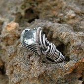 Sterling Silber Draht gewickelt Blue Topaz und Diamond Ring << on hold for Chris >>