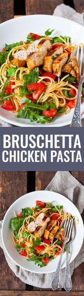 Pâtes au poulet bruschetta   – Gerichte