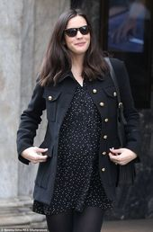 Baby Bump Super chic: Liv Tyler glowed as she stepped out in London on Wednesday in a cute...