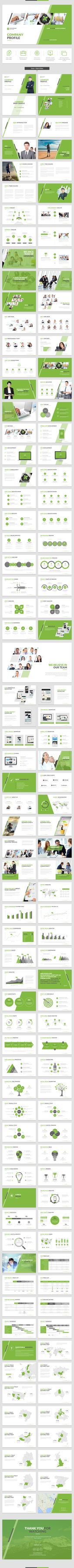 Company Profile PowerPoint Template Company profile, Profile and - company business profile