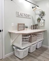 Sorry but this is an organizers dream! ???? .⁣ .⁣ @blessed_ranch has her laundry room storage space organize