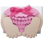 JMR-Crawling Baby Girl Bottom Card – JamieandJenn.com   – Alyssa's baby shower