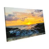 House of Hampton Leinwandbild Sunset Seascape | Wayfair.de