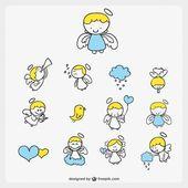 Niedlichen kleinen Engel Cartoon