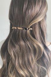 Schildpatt Haarspange | Schildpatt Haarspange | Langes Haarspange | Acetat-Haarspange | Minimale Pferdeschwanz-Haarspange | Elfenbein Accessoire
