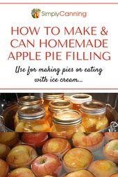 Canning Apfelkuchenfüllung sorgt für einen schnellen und leckeren Genuss! – Canning