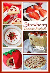 Plus de 10 recettes de desserts à la fraise fraîche