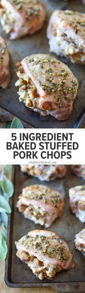 Friday Night Dinner: Baked Stuffed Pork Chops | Gilmore Girls recipe | Simply Wh…