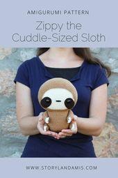 PATTERN: Cuddle-Sized Sloth Amigurumi Crocheted Sloth | Etsy