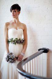 42 Brautfrisuren mit langen, kurzen oder mittellosen Haaren