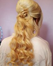 50 Half Updos for your Perfect Everyday and Party Look - Wedding Hair - #All Day # for #Hair # Half #Short Hairstyles -