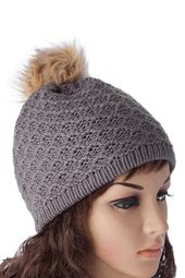 Chic Pompons Design Lattice Knitting Hat For Women – Korean Fashion Casual