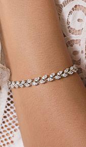 Silber Boho Hochzeit Armband mit Kristallen – Damenmode – #Armband #Boho …   – Bracelets