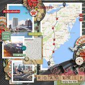 Tolles Seitenlayout für Road Trip-Sammelalben – #für #Road #Seitenlayout #Toll…