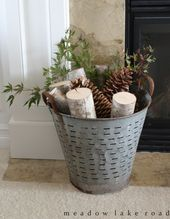 Ways to Use Metal Olive Buckets in Your Farmhouse …