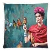 Detalles sobre Funda de cojín de algodón suave personalizado Art Butterfly Funda de almohada para mujer española 18×18 IN