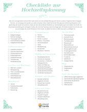 Checkliste zur Hochzeitsplanung