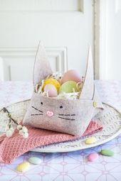 süße Osterkörbchen aus Filz  ganz schnell und einfach selbermachen  #aus #e -…