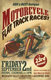 VINTAGE MOTORCYCLE EVENT POSTER | Zazzle.com – Antique Vintage And Cafe Racing Motorcycles