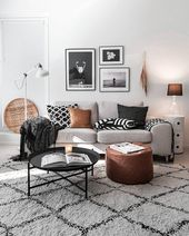 20+ Cute Monochrome Living Room Decoration You Must Have