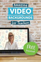 Free Downloadable Video Backgrounds For Teachers To Use In Zoom Or Other Platforms Free Teacher Teaching Videos Teacher