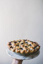 Blueberry Yuzu Pie