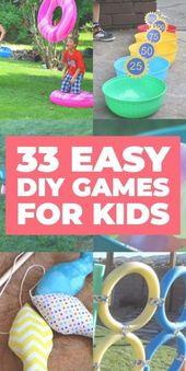 33 DIY Backyard Games for Kids. Looking for fun ac…