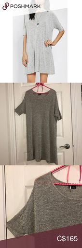 Minimalist Slouchy Light Grey T-shirt Dress Small – My Posh Picks