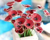 Cadeau de pendaison de crémaillère Cadeau d'hôtesse Fleurs pièce maîtresse Décorations de fleurs Fleurs en céramique   – Cerâmicas