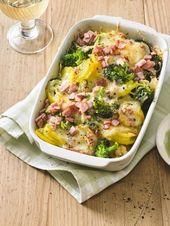 Brokkoli- und Kartoffelgratin mit Schinken   – Rezepte zum kochen
