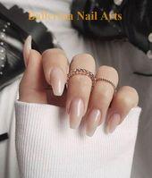 Trendige Designs für Ballerina-Nägel #nailartideas #ballerinanail