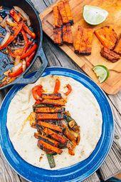 Fajitas de patates douces grillées   – Vegan camp meals